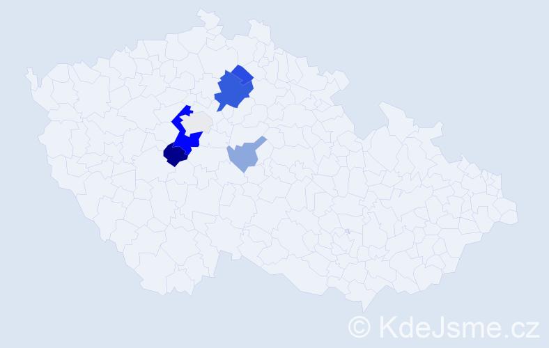 Příjmení: 'Grusz', počet výskytů 17 v celé ČR
