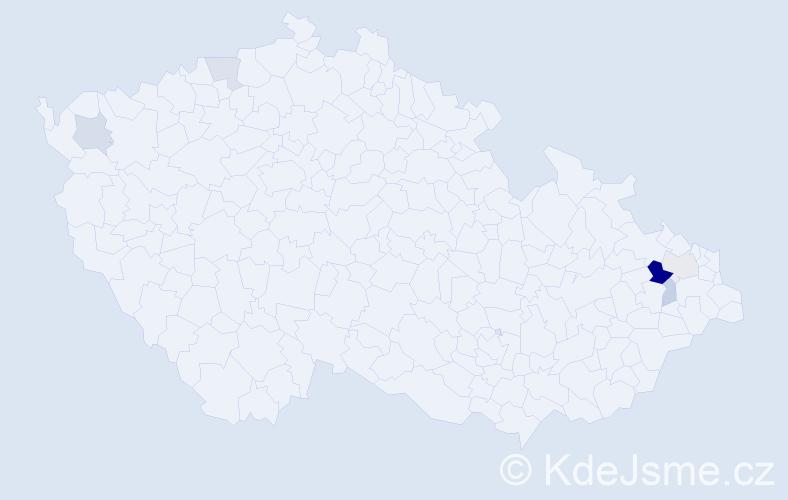 Příjmení: 'Andreeová', počet výskytů 11 v celé ČR