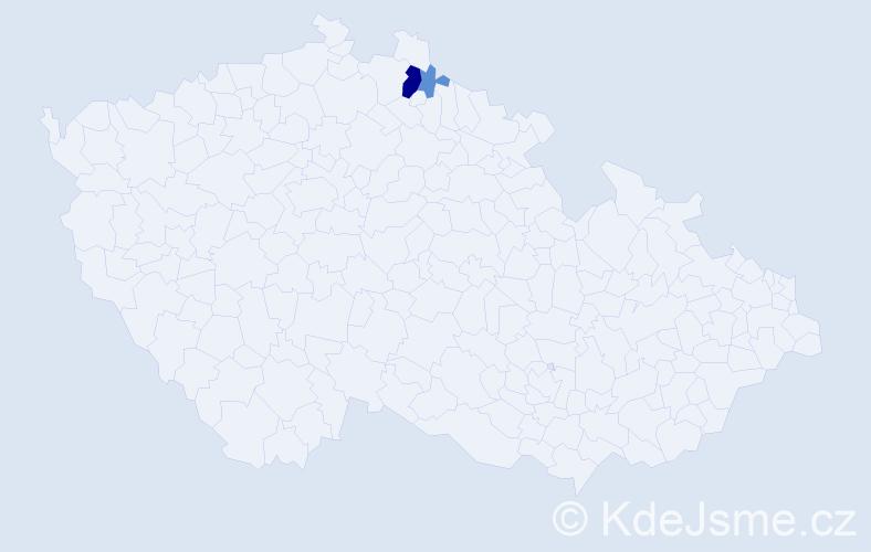 Příjmení: 'Halabak', počet výskytů 7 v celé ČR