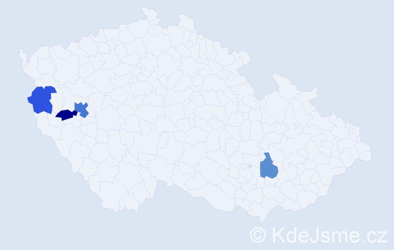 Příjmení: 'Kamodyová', počet výskytů 6 v celé ČR
