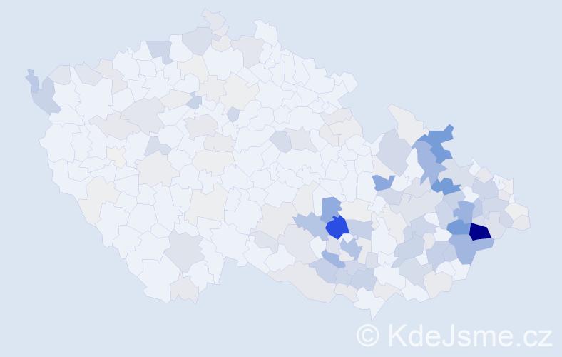 Příjmení: 'Juříčková', počet výskytů 653 v celé ČR