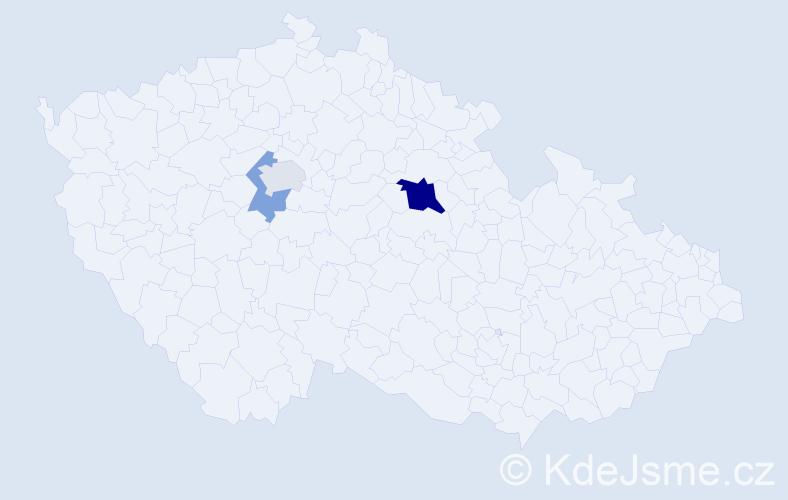Příjmení: 'Gašníková', počet výskytů 6 v celé ČR