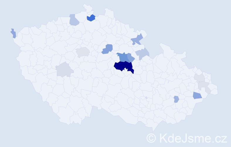 Příjmení: 'Elich', počet výskytů 58 v celé ČR