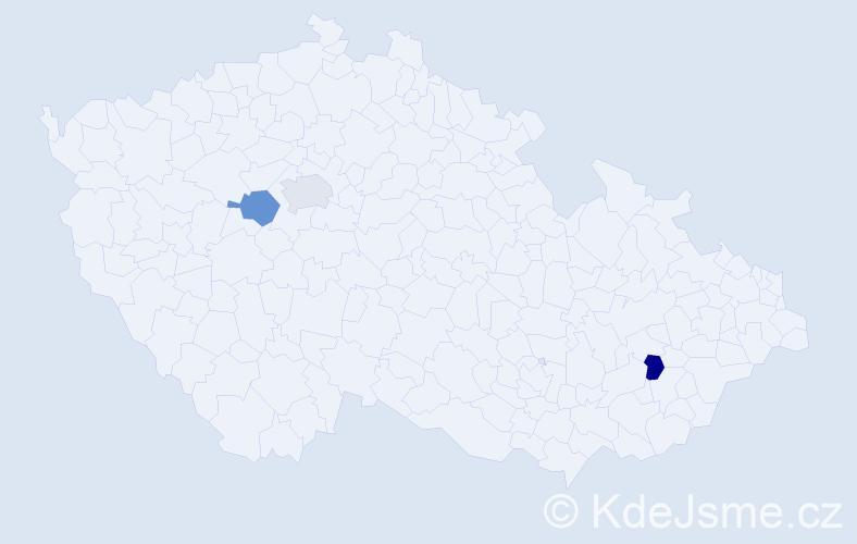 Příjmení: 'Čuvalová', počet výskytů 3 v celé ČR