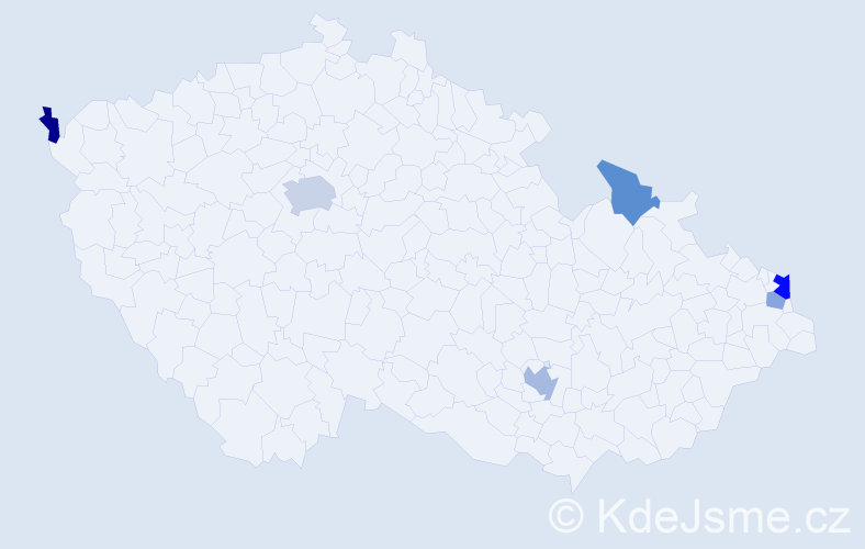 Příjmení: 'Bobulová', počet výskytů 11 v celé ČR
