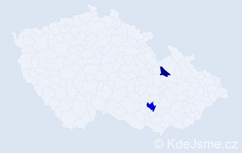 Příjmení: 'Ferulík', počet výskytů 7 v celé ČR