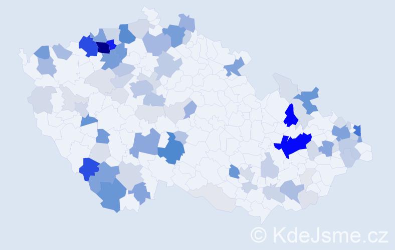 Příjmení: 'Ištok', počet výskytů 381 v celé ČR
