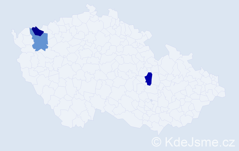 Příjmení: 'Čauderová', počet výskytů 3 v celé ČR