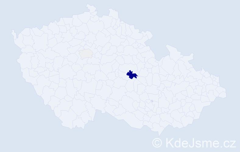 Příjmení: 'Akermanová', počet výskytů 10 v celé ČR
