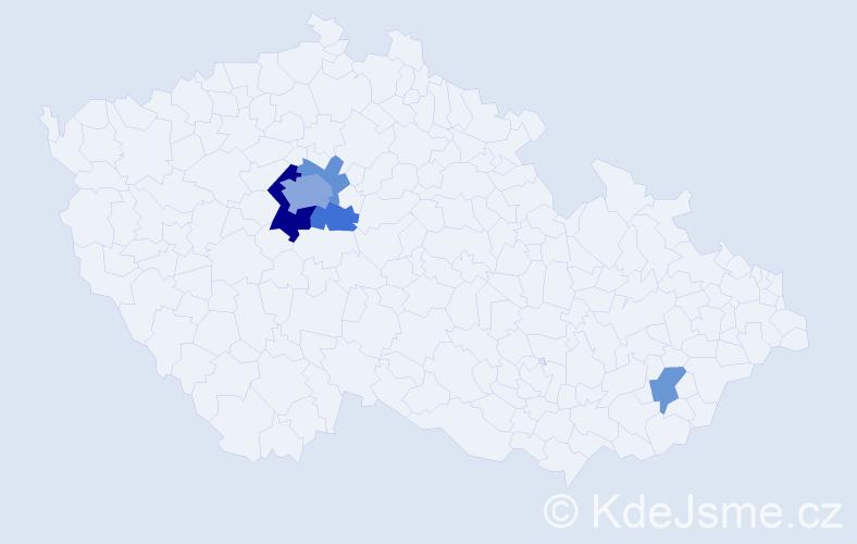 Příjmení: 'Fremunt', počet výskytů 11 v celé ČR