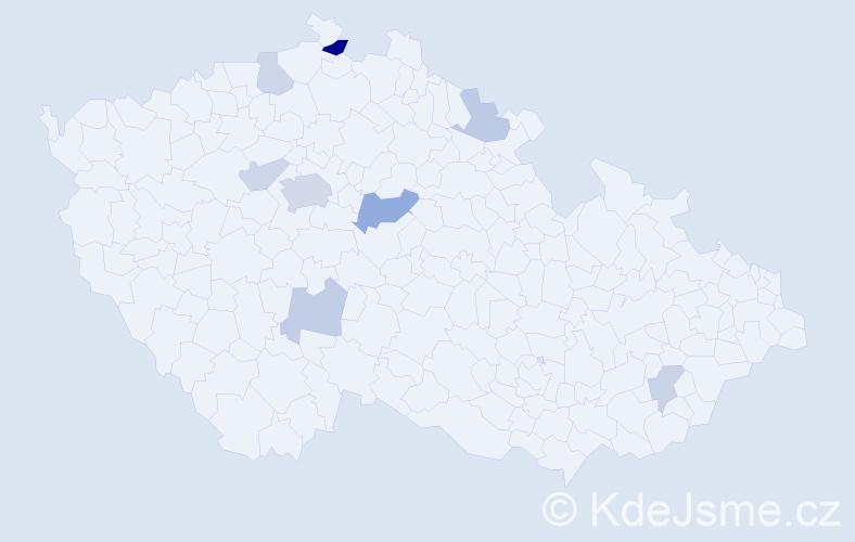 Příjmení: 'Fernandezová', počet výskytů 16 v celé ČR