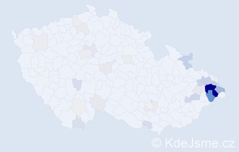 Příjmení: 'Koloničná', počet výskytů 168 v celé ČR
