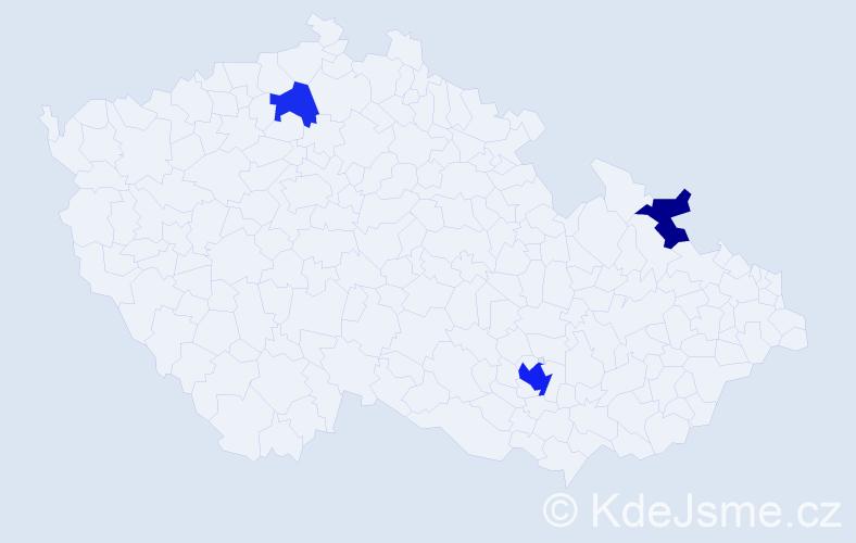Příjmení: 'Alexandridu', počet výskytů 6 v celé ČR