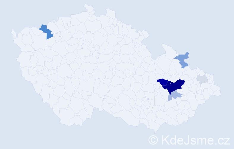 Příjmení: 'Bolová', počet výskytů 17 v celé ČR