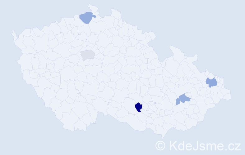 Příjmení: 'Kolesar', počet výskytů 8 v celé ČR