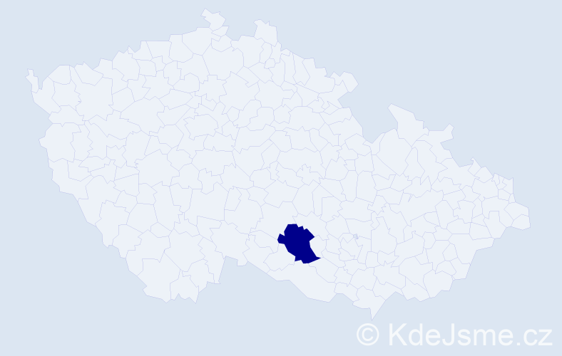 Příjmení: 'Barilka', počet výskytů 1 v celé ČR