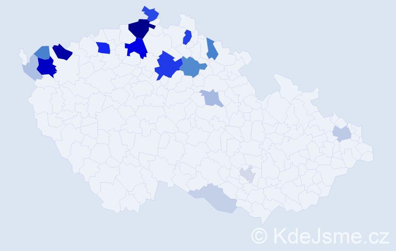 Příjmení: 'Gazsi', počet výskytů 68 v celé ČR