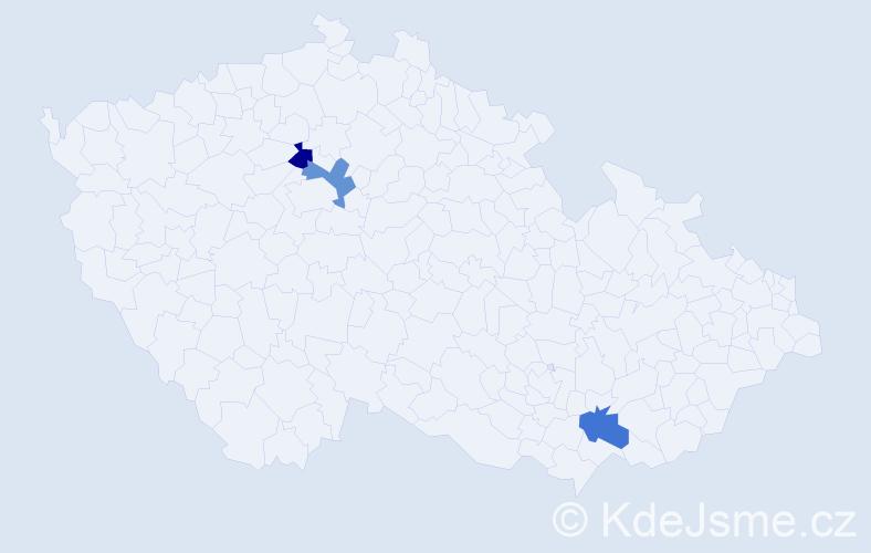 Příjmení: 'Chrena', počet výskytů 3 v celé ČR