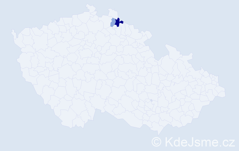 Příjmení: 'Bonnan', počet výskytů 6 v celé ČR