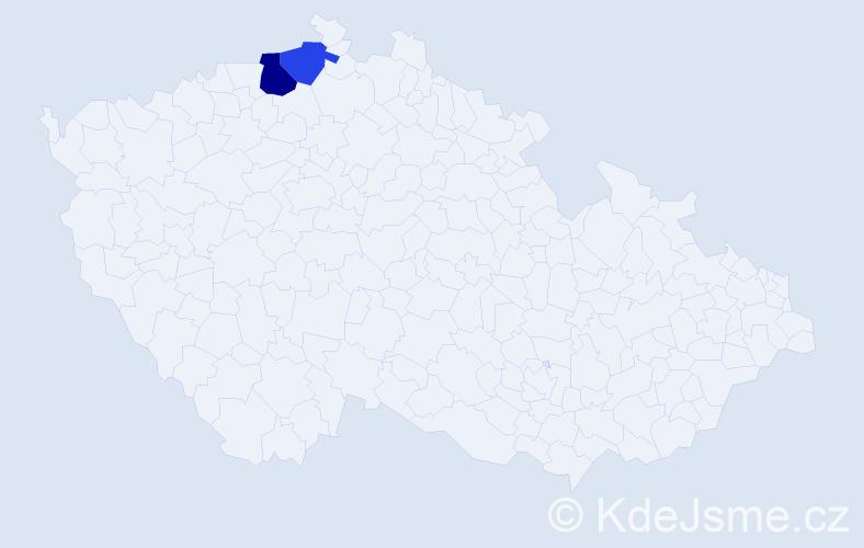 Příjmení: 'Cepoušek', počet výskytů 6 v celé ČR