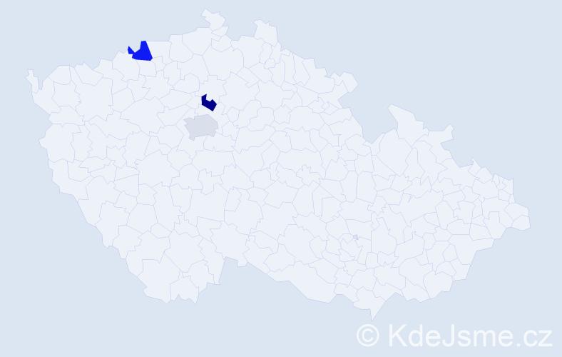 Příjmení: 'Kučerjavyj', počet výskytů 3 v celé ČR