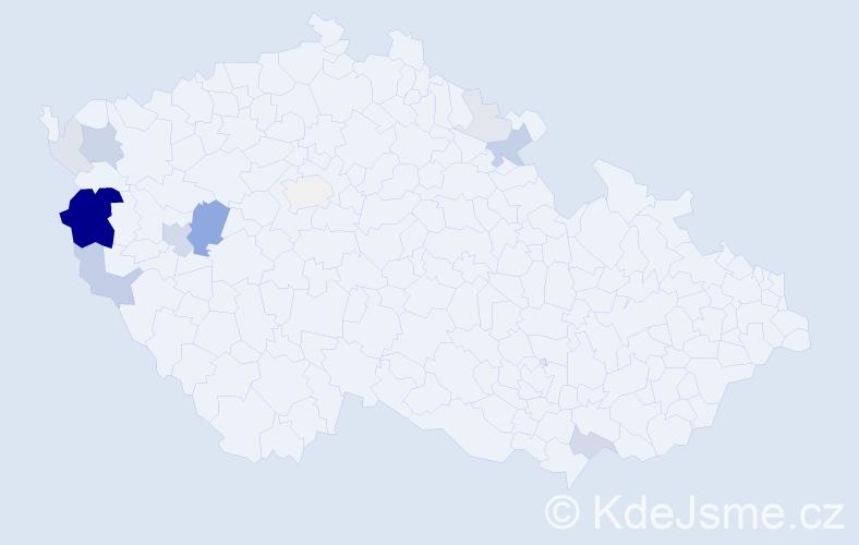 Příjmení: 'Goubej', počet výskytů 41 v celé ČR