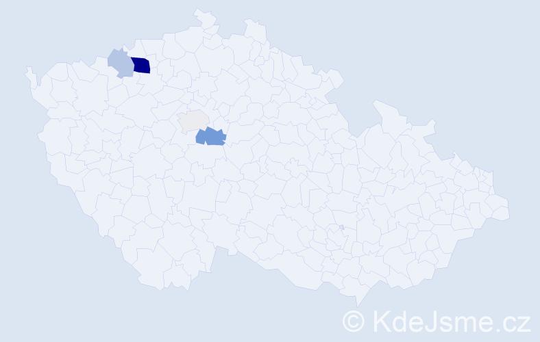 Příjmení: 'Ihracký', počet výskytů 12 v celé ČR