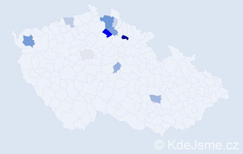 Příjmení: 'Erbertová', počet výskytů 31 v celé ČR