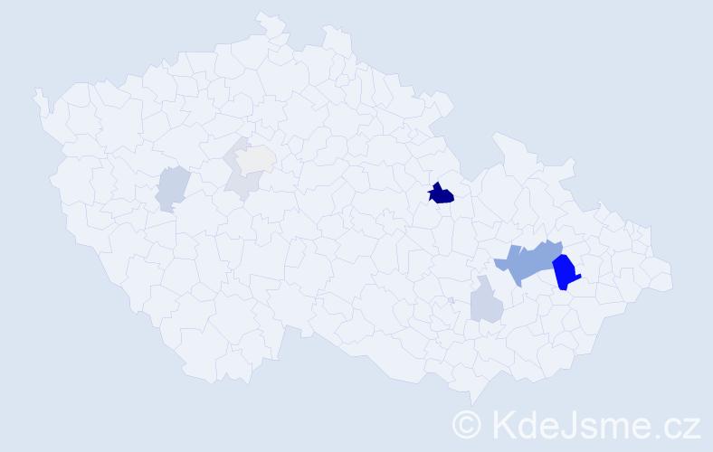 Příjmení: 'Kleisl', počet výskytů 24 v celé ČR