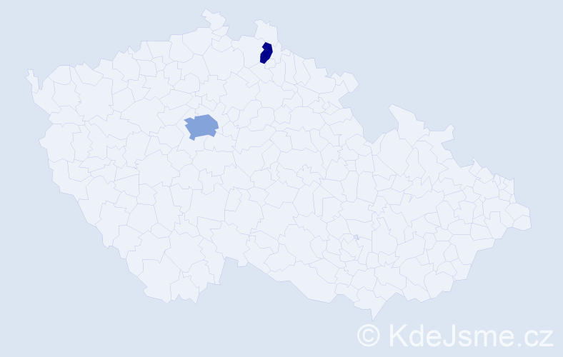 Příjmení: 'Gaal', počet výskytů 4 v celé ČR
