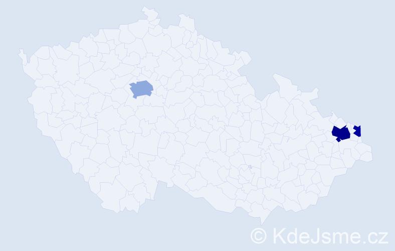 Příjmení: 'Kosydar', počet výskytů 6 v celé ČR