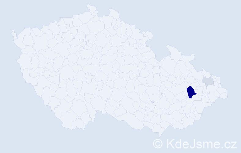 Příjmení: 'Černotská', počet výskytů 4 v celé ČR