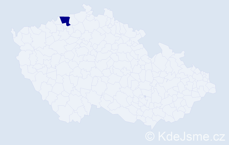 Příjmení: 'Gerčová', počet výskytů 1 v celé ČR