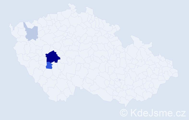 Příjmení: 'Leiterman', počet výskytů 10 v celé ČR