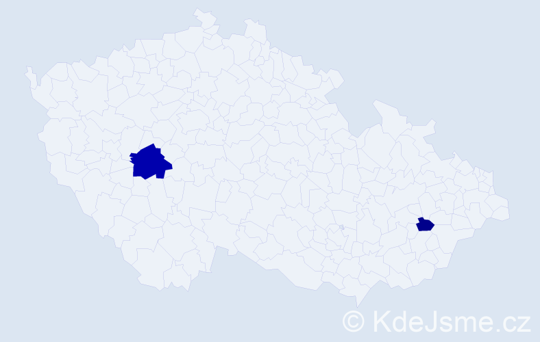 Příjmení: 'Drevický', počet výskytů 5 v celé ČR