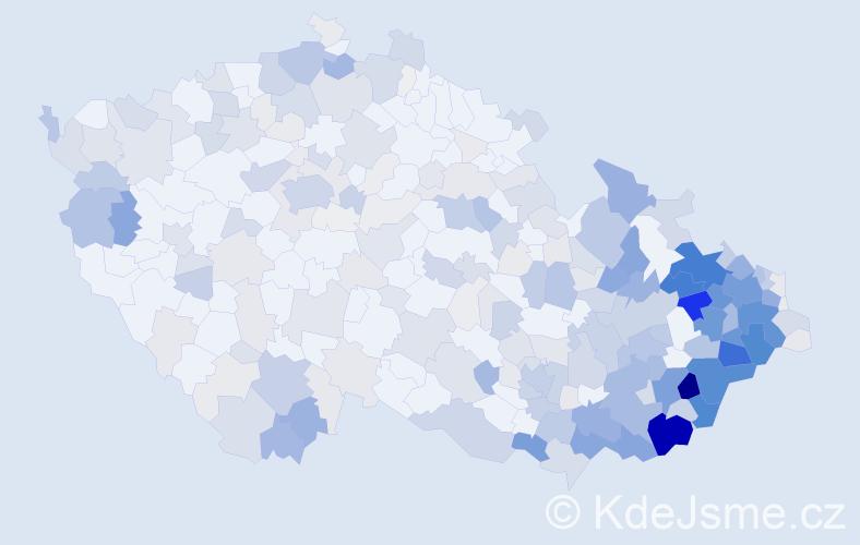 Příjmení: 'Chovancová', počet výskytů 1509 v celé ČR