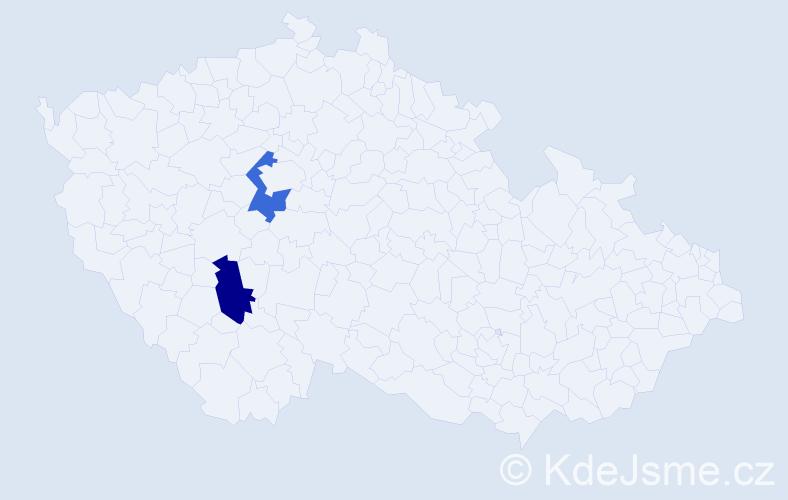 Příjmení: 'Hadžuriková', počet výskytů 4 v celé ČR