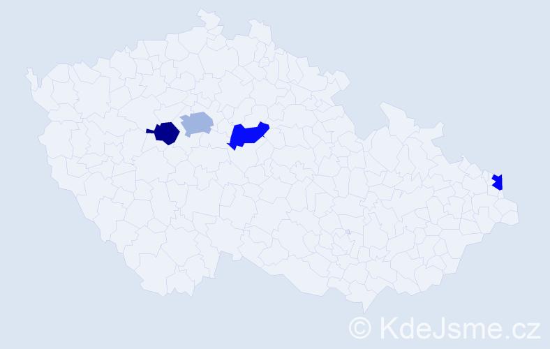 Příjmení: 'Gottschalk', počet výskytů 5 v celé ČR