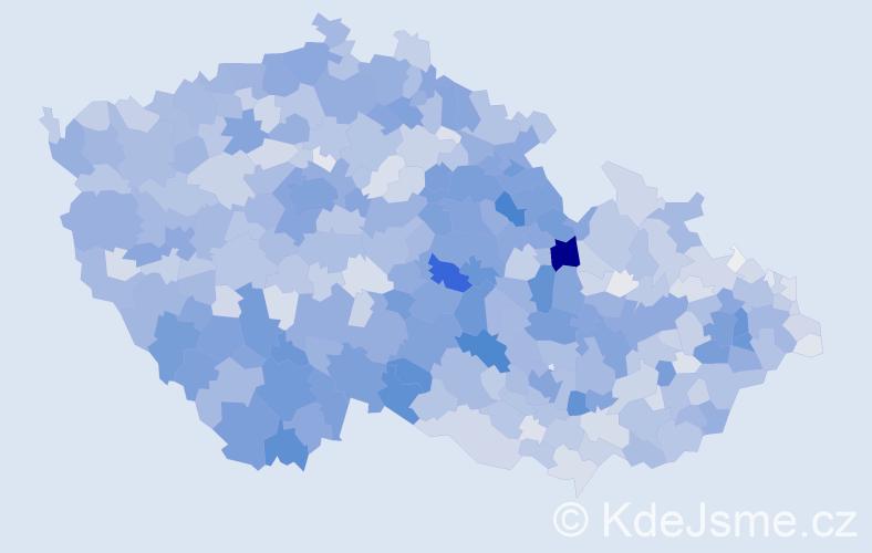 Příjmení: 'Marková', počet výskytů 11579 v celé ČR