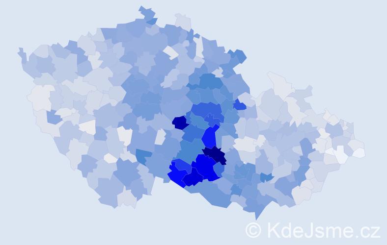 Příjmení: 'Doležal', počet výskytů 8771 v celé ČR