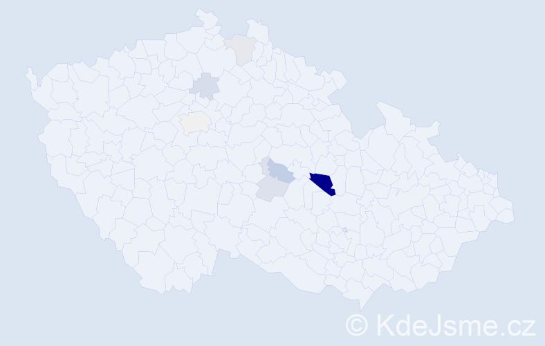 Příjmení: 'Lajžner', počet výskytů 14 v celé ČR