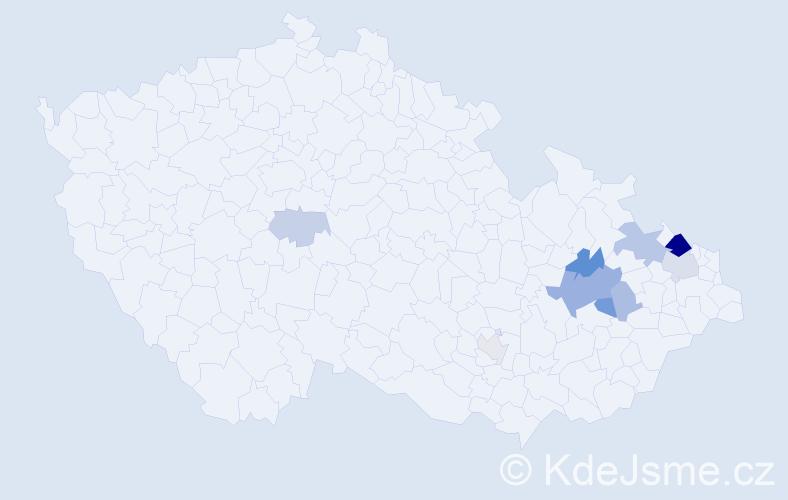 Příjmení: 'Gogolínová', počet výskytů 22 v celé ČR
