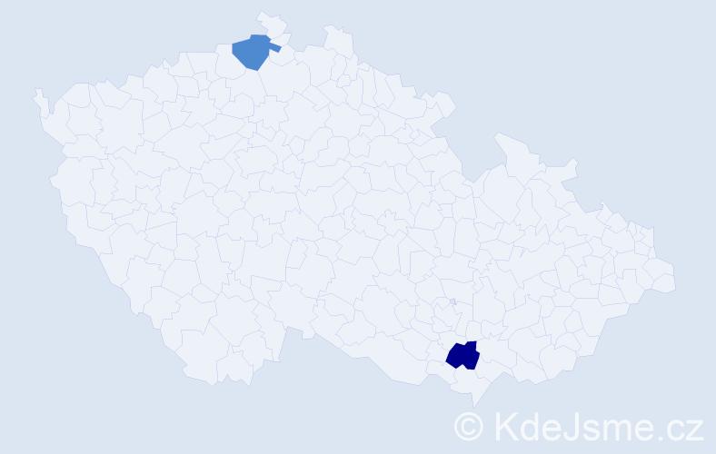 Příjmení: 'Guadagnini', počet výskytů 2 v celé ČR