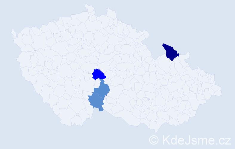 Příjmení: 'Bánovčanová', počet výskytů 5 v celé ČR
