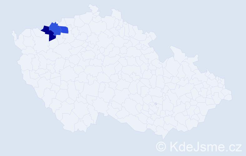 Příjmení: 'Barantal', počet výskytů 3 v celé ČR