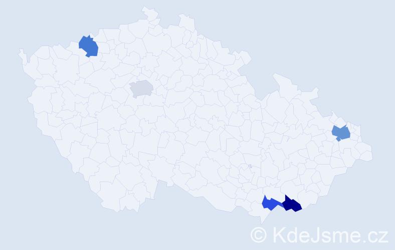 Příjmení: 'Ďurnek', počet výskytů 12 v celé ČR