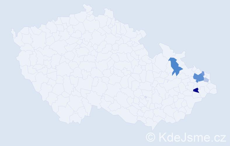 Příjmení: 'Jaškovský', počet výskytů 15 v celé ČR