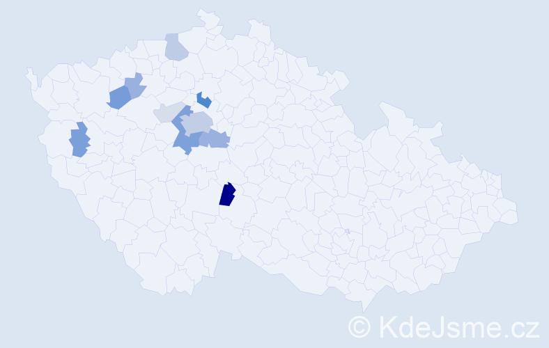 Příjmení: 'Coňk', počet výskytů 31 v celé ČR