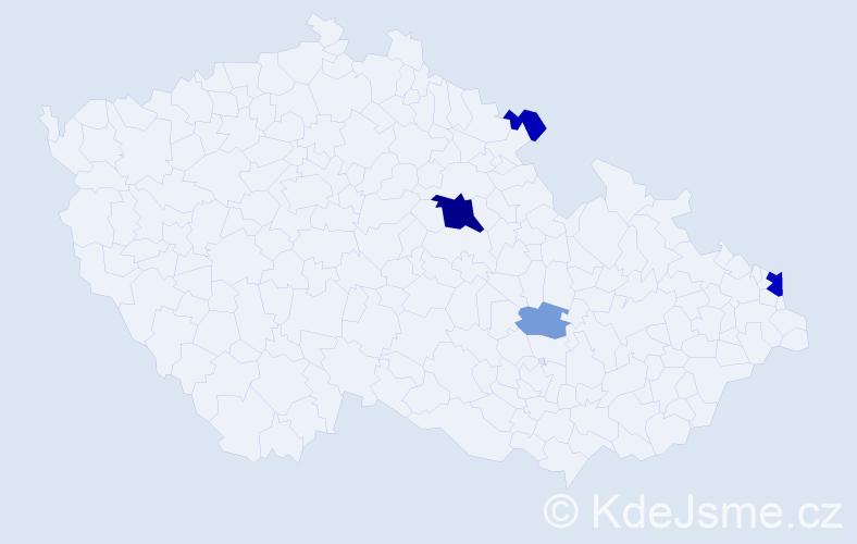 Příjmení: 'Čigelský', počet výskytů 12 v celé ČR