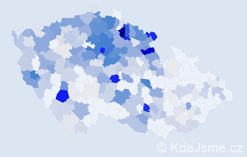 Příjmení: 'Hradecký', počet výskytů 1119 v celé ČR